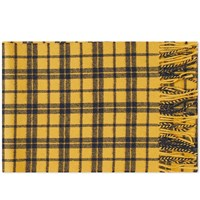 Norse Projects Lambswool Check Scarf Yellow