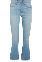 Madewell Cali Cropped High Rise Bootcut Jeans Blue