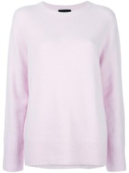 The Row Ribbed Detail Jumper Pink Purple