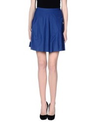 Gattinoni Knee Length Skirts Blue