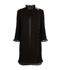 Marc Jacobs Ruffled Lace Baby Doll Dress Female Black