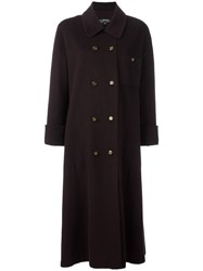 Chanel Vintage Double Breasted Overcoat Brown