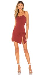 Free People Monroe Mini Dress In Brick. Wine
