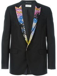 Saint Laurent Sequin Lapel Blazer Black
