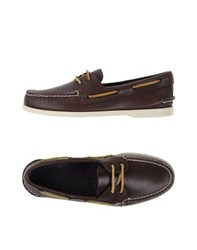 Sperry Top Sider Footwear Moccasins Men Dark Brown
