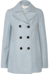 Tory Burch Double Breasted Wool Blend Peacoat