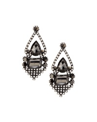 Greenbeads By Emily And Ashley Silver Crystal Hinged Drop Earrings