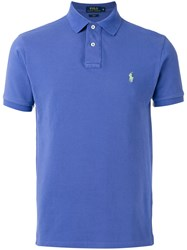 Polo Ralph Lauren Logo Embroidered Shirt Blue