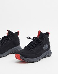 The North Face Truxel Mid Sneaker In Black