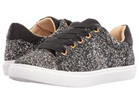 Blue By Betsey Johnson Rae Black Glitter Women's Lace Up Casual Shoes