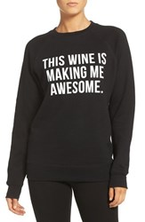 Brunette Women's The Label 'This Wine' Crewneck Sweatshirt Black