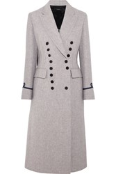 Joseph New Jacky Appliqued Wool Blend Coat Gray