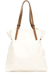 Tomas Maier Adjustable Strap Tote White