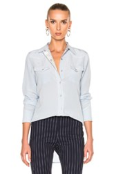 Rag And Bone Jesse Blouse In Blue