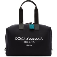 Dolce And Gabbana Black Technical Palermo Bag