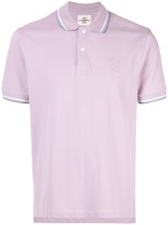 Kent And Curwen Contrast Trim Polo Shirt Purple