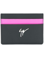 Giuseppe Zanotti Design Colourblock Card Holder Black