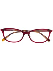 Lacoste Square Frame Glasses Red