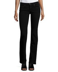 Rag And Bone Mid Rise Boot Cut Jeans Black Coal