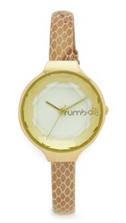 Rumbatime Orchard Gem Exotic Leather Ivory Watch Gold Ivory