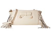 Betsey Johnson Fringe Party Crossbody Cream Cross Body Handbags Beige