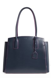 Lodis Audrey Under Lock And Key Zola Rfid Leather Tote Blue Navy Orchid