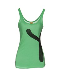 Paul Smith By Tank Tops Light Green