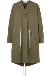 Alexander Wang T By Cotton Twill Parka Army Green