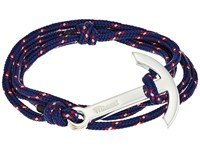 Miansai Modern Anchor On Rope Bracelet Navy