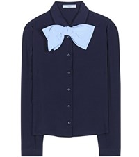 Prada Silk Shirt Blue