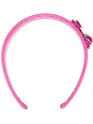 Salvatore Ferragamo 'Vara' Bow Headband Pink And Purple