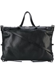 Saint Laurent Embossed Tote Women Leather One Size Black