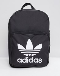 Adidas Originals Large Trefoil Logo Backpack In Black Dj2170