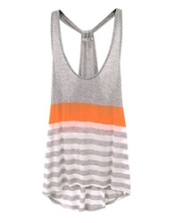 Red Haute Multi Stripe Racerback Tank Top Grey Mango