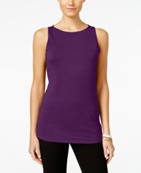 Inc International Concepts Petite Boat Neck Tank Top Only At Macy's Purple Paradise