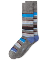 Alfani Men's Pop Stripe Socks Only At Macy's Blue Multi