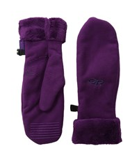 Outdoor Research Fuzzy Mitts Orchid Extreme Cold Weather Gloves Purple