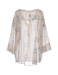 Attic And Barn Blouses Beige