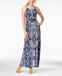 Inc International Concepts I.N.C. Printed Keyhole Maxi Dress Created For Macy's Couture Paisley