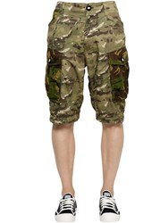 G Star Camo Cotton Gabardine Cargo Shorts