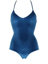 Albertine Cassis Velvet Lace Up Swimsuit