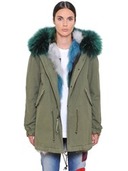 Mrandmrs Italy Canvas Parka W Fox Murmansky Fur