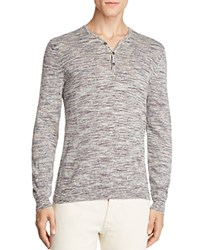 John Varvatos Star Usa Melange Knit Henley Sweater 100 Bloomingdale's Exclusive Ivory Multi