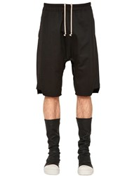 Rick Owens Drawstring Tech Cotton Shorts W Zips