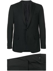Caruso Single Breasted Suit Black