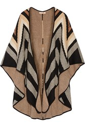 Mara Hoffman Cotton Blend Jacquard Cape Brown