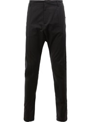 Balmain Dropped Crotch Tapered Trousers Black