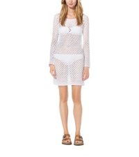 Michael Kors Hand Crocheted Cotton Tunic White