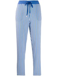 Love Moschino Striped Track Trousers Blue