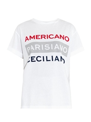 Etre Cecile Slogan Print Cotton T Shirt